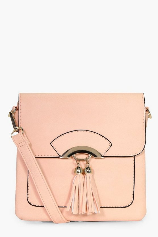 Olivia Double Tassel Cross Body Bag