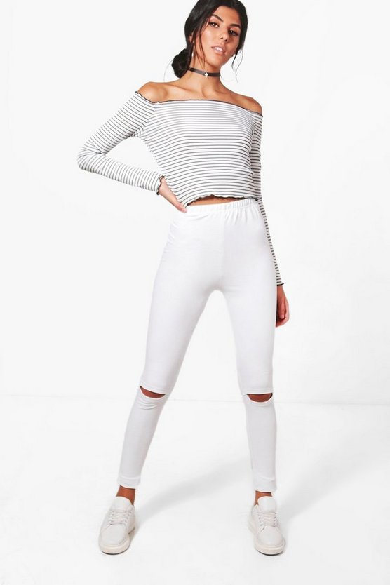 Adara Split Knee Pocket Back Jeggings