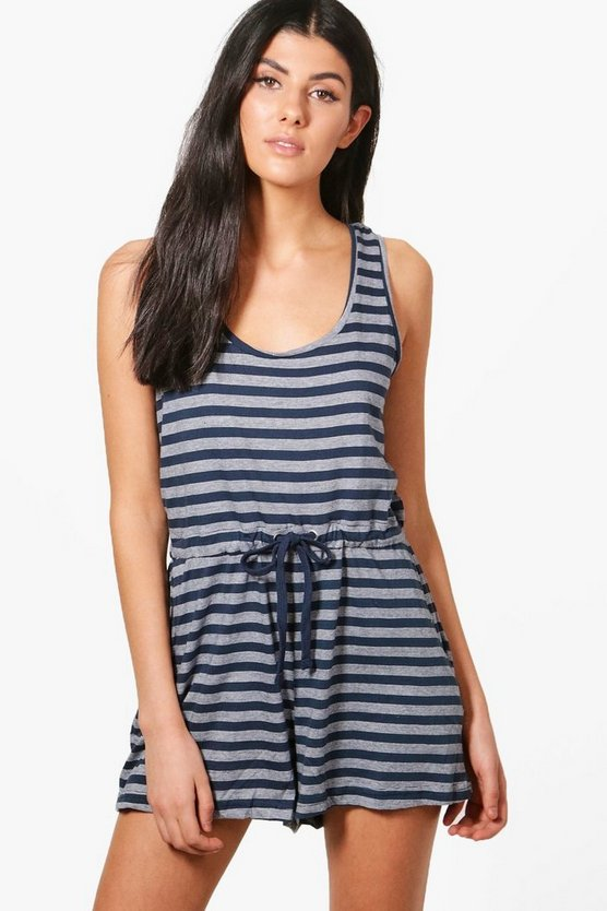 Lorna Striped Playsuit