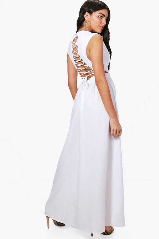 Louise Lace Up Back Maxi Dress