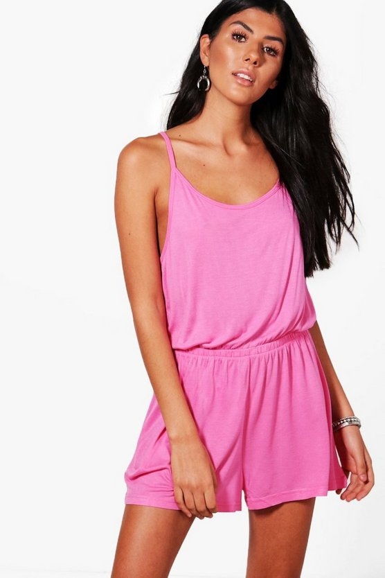 Leanne Jersey Strappy Playsuit