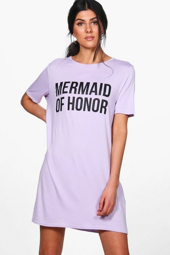 Daniella Mermaid Of Honor T-Shirt Dress