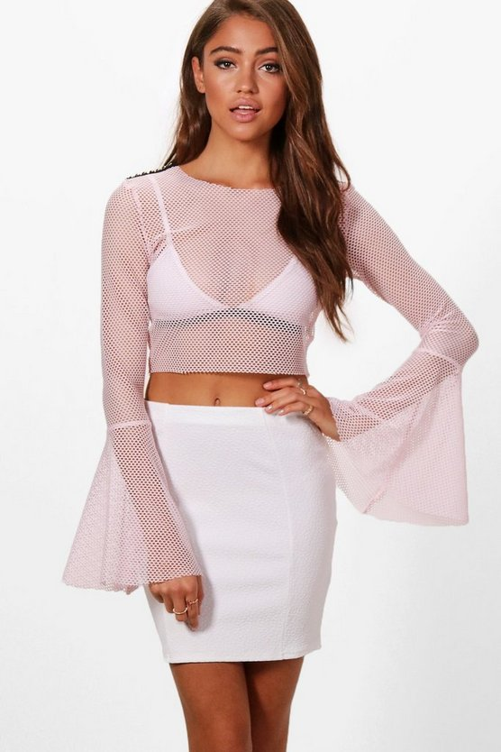 Lucienne Textured Panel Mini Skirt