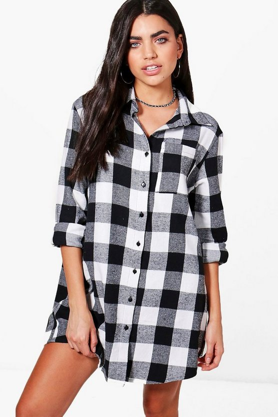 Niamh Oversized Check Shirt Dress