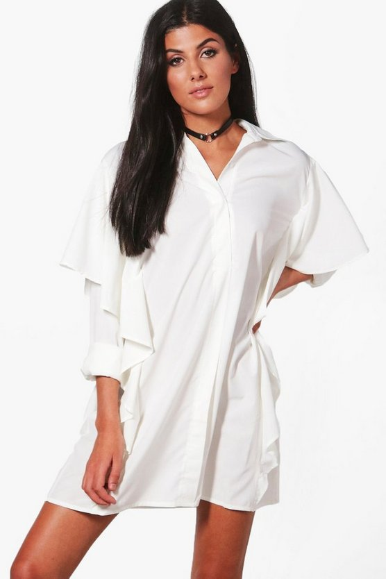 Lucy Frill Shoulders Shirt Dress