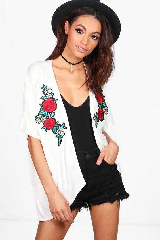 Sophie Rose Embroidered Kimono