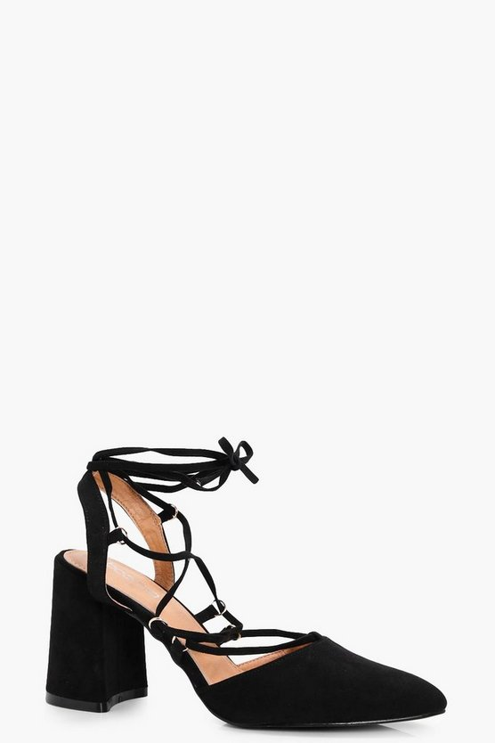 Danielle Wrap Up Sling Back Court Shoe