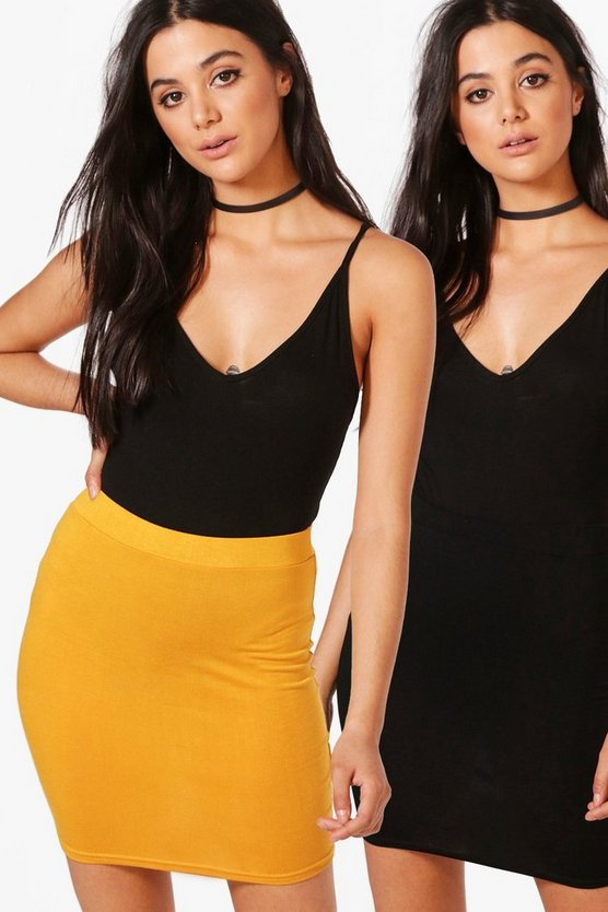 Harlow 2 Pack Basic Jersey Mini Skirt