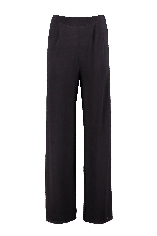 Boohoo-Emilia-Pantalon-Large-En-Jersey-Touchant-Le-Sol-pour-Femme