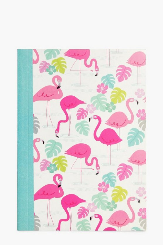 Flamingo Print A6 Notebook