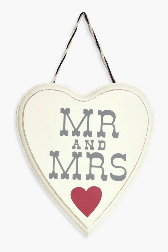 Mr & Mrs Wooden Plaque