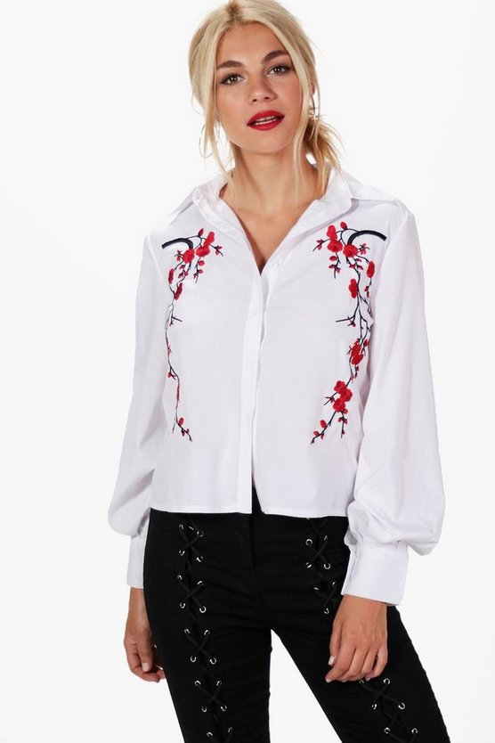 Amina Embroidered Front Shirt