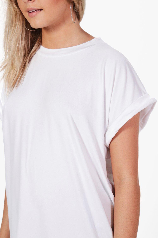 Boohoo-Maisie-T-shirt-Taglio-Ampio-Maschile-Oversize-per-Donna
