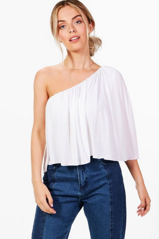 Megan One Shoulder Swing Top