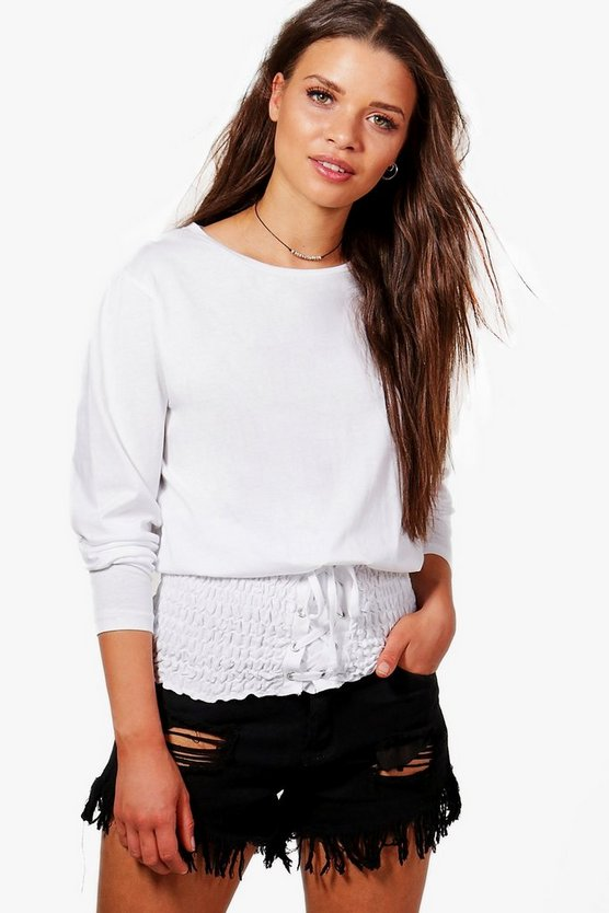 Olivia Oversized Shirred Waist T-Shirt