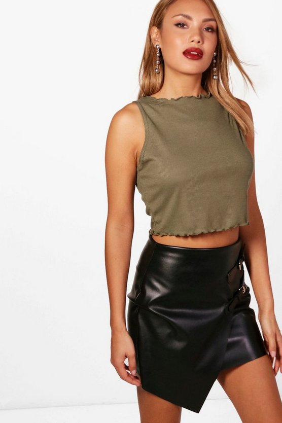 Layla Basic Ribbed Cropped Vest