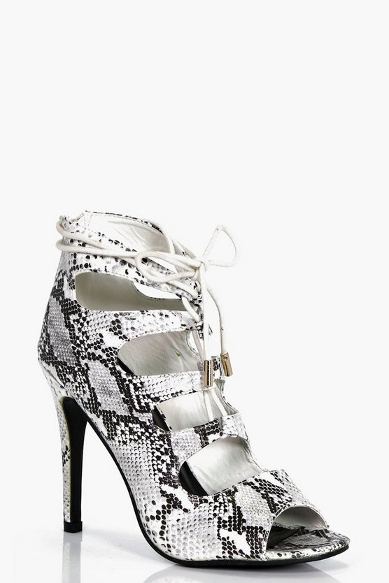 Millie Snake Ghillie Lace Heel