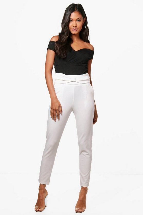 Kasi Bow Waist Stretch Skinny Trousers