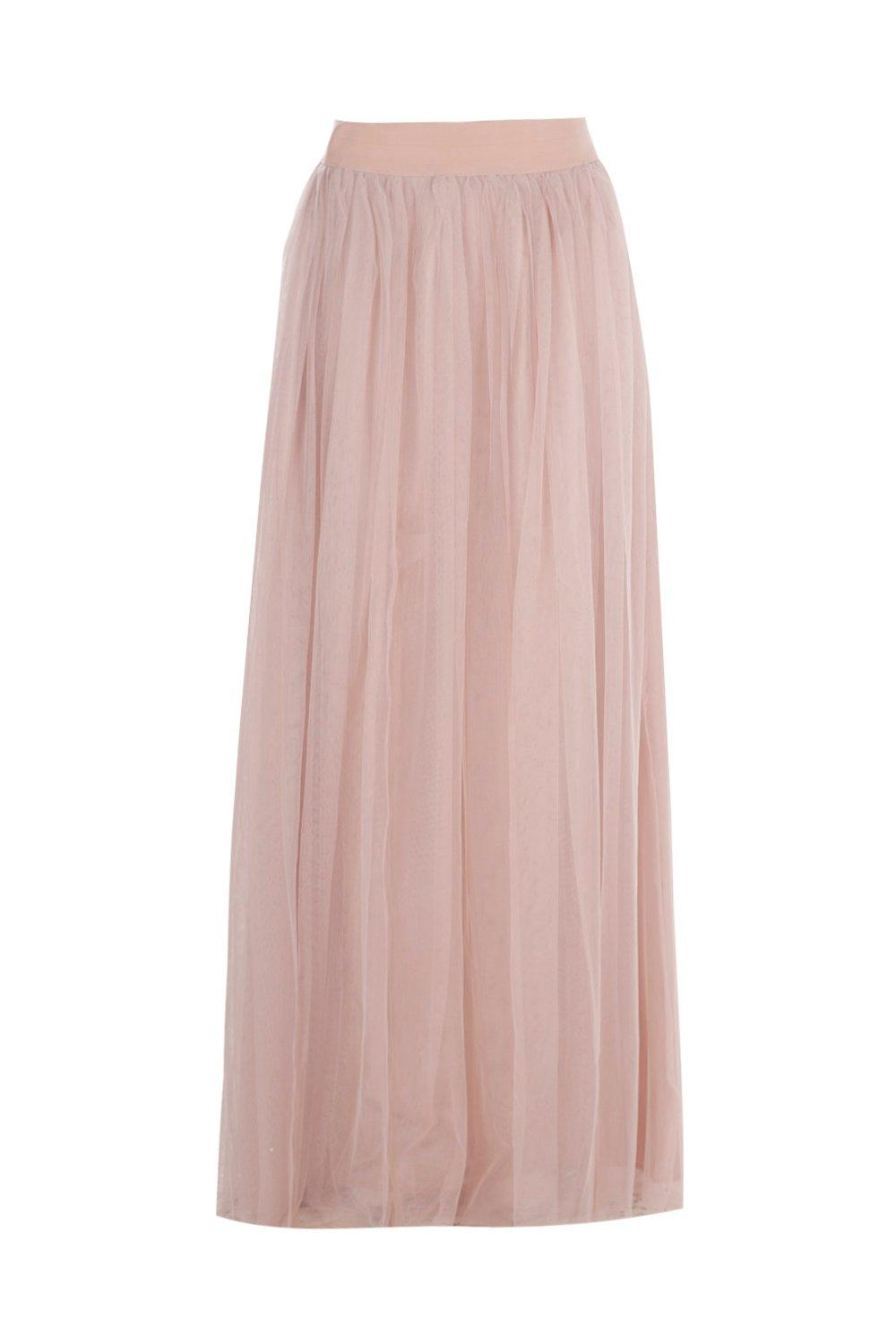 Boohoo-Hallie-Boutique-Gonna-Maxi-Extra-Lunga-In-Tulle-per-Donna