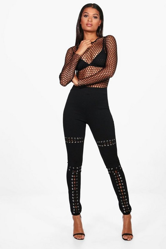 Lua Eyelet Lace Up Front Leggings