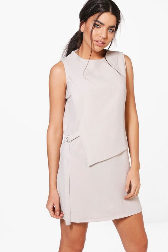 Niki Sleeveless Belted Shift Dress