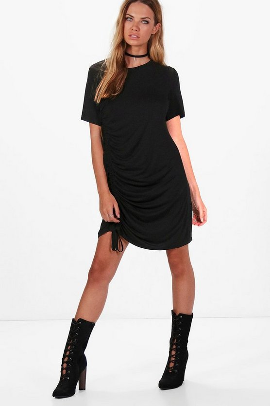 Beth Rouched Side T-Shirt Dress