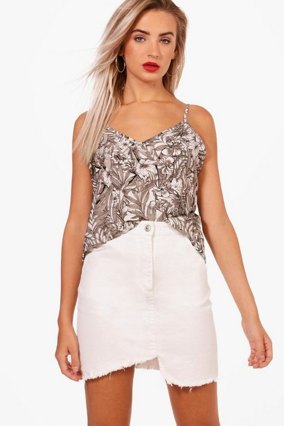 Katie Tropical Print Woven Cami