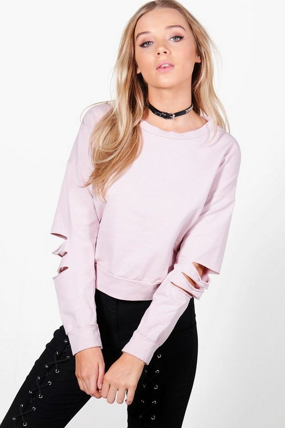 Ava Slash Sleeve Sweatshirt