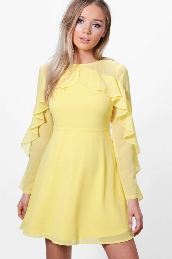Venice Frill Detail Skater Dress
