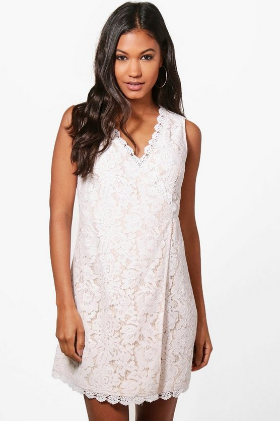 Boutique Cole Tie Wrap Shift Dress