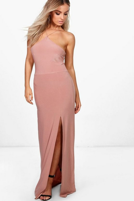 Elise Strappy Slinky Maxi Dress