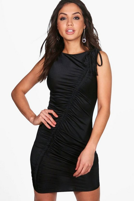 Renee Slinky Ruched Bodycon Dress