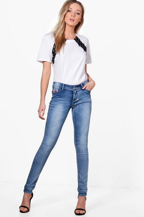 Jacelyn 5 Pocket High Rise Skinny Jeans