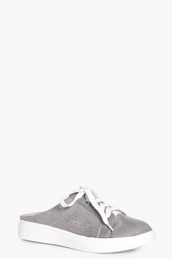 Lauren Slip On Lace Up Trainers