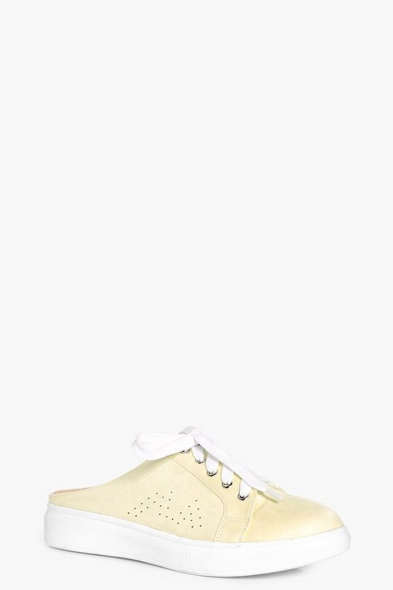 Lauren Slip On Lace Up Trainer