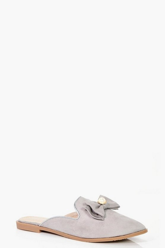 Ellie Pearl Trim Loafer Mules