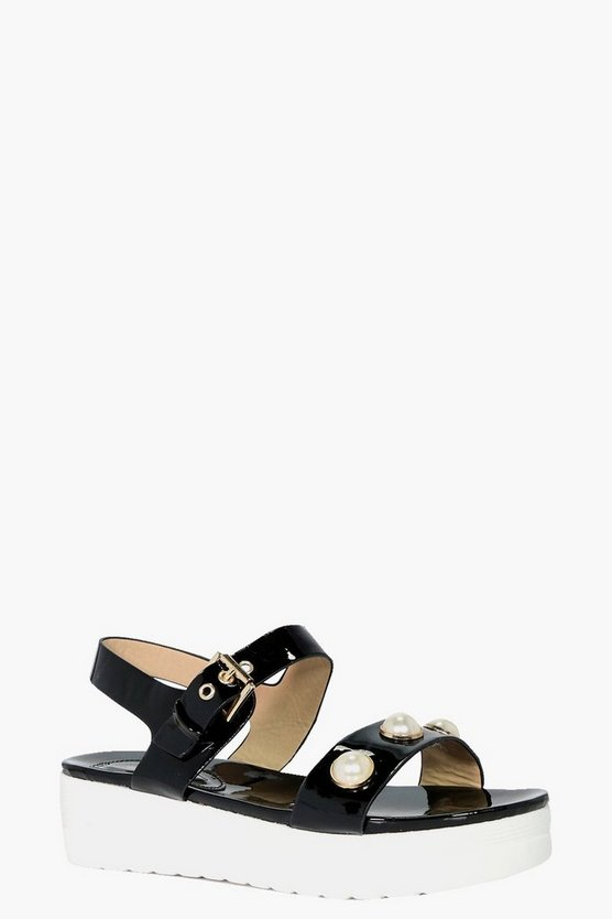 Lucy Pearl Trim Cleated Sandal