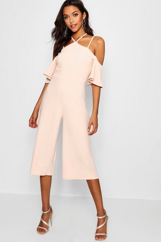 Sofia Open Shoulder Culotte Jumpsuit