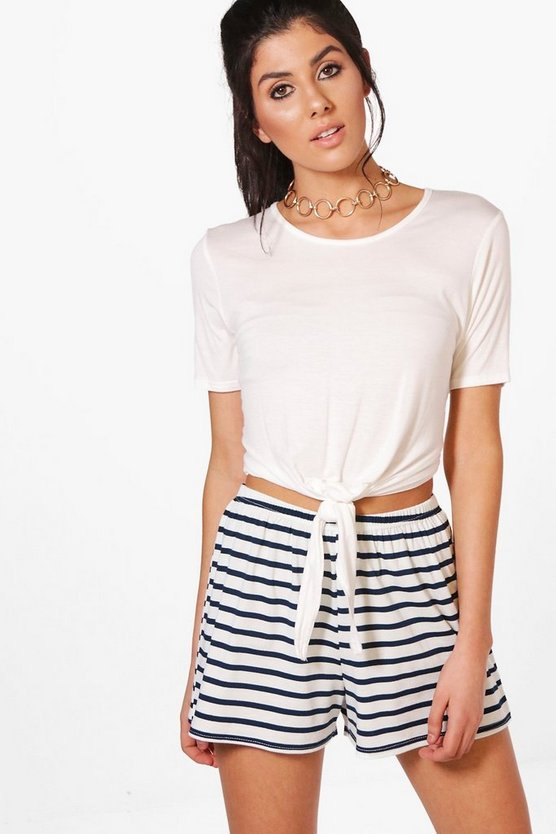 Joan Striped Flippy Shorts