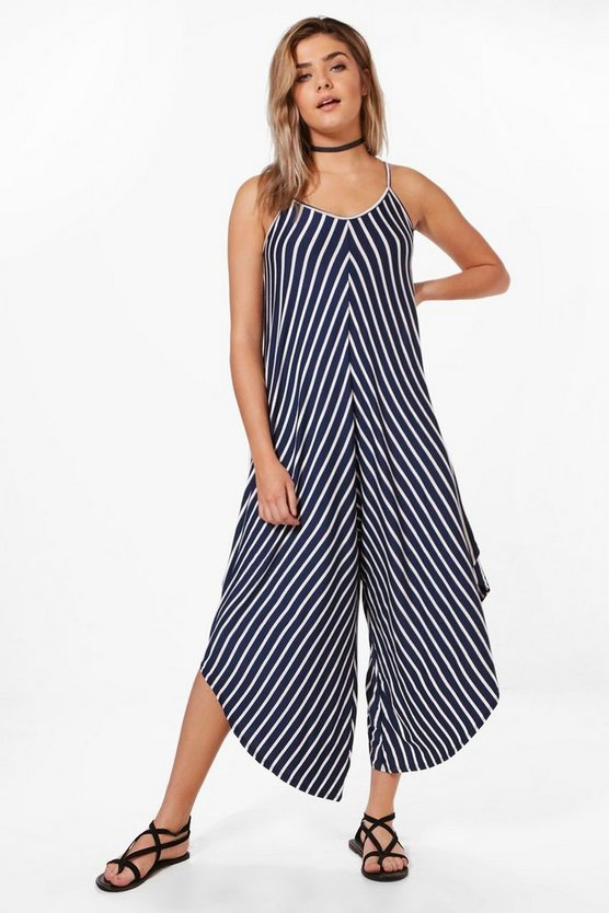 Katie Striped Hareem Jersey Jumpsuit