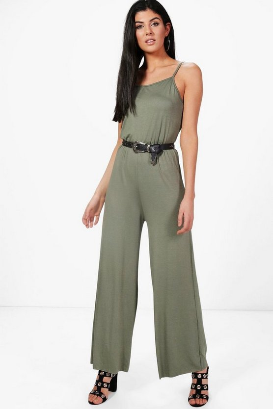 Kelly Solid Colorur Jersey Jumpsuit