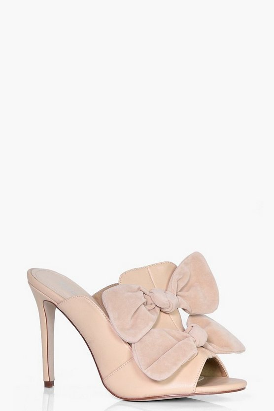Ruby Bow Detail Mule Heel