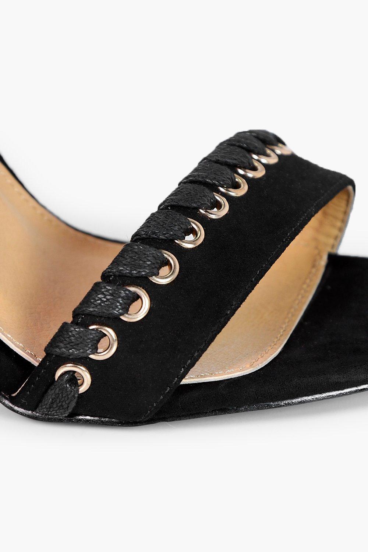 boohoo damen neve sandalen mit absatz berwendlingsstich. Black Bedroom Furniture Sets. Home Design Ideas