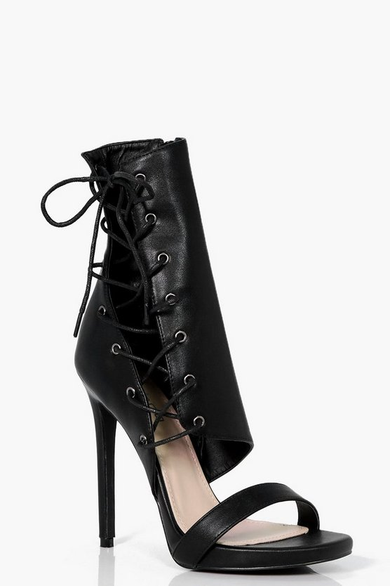 Aimee Lace Up Ankle Detail Stiletto