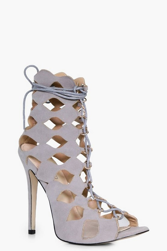 Natasha Cage Ghillie Lace Up Heels