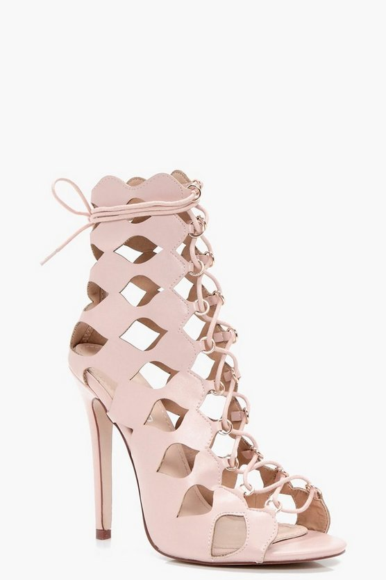 Zoe Cage Ghillie Lace Up Heels