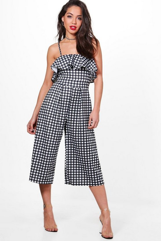 Image result for boohoo jen gingham ruffle