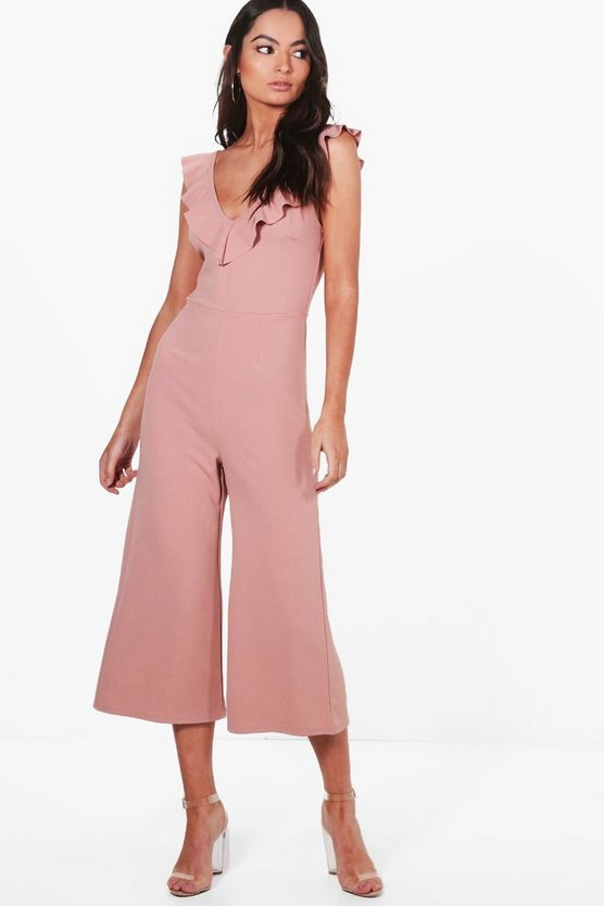 Neck Culotte Jumpsuit