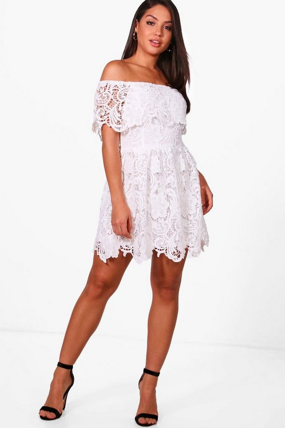 Boutique Freyja Lace Skater Dress