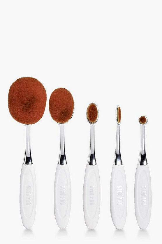 Oval 5 Piece Brush Set